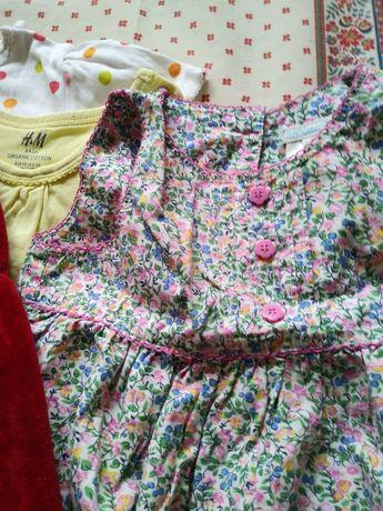 Zestaw 98 komplet ubrań 2-3 l. bluza F&F sukienka Jojo Maman Bebe H&M