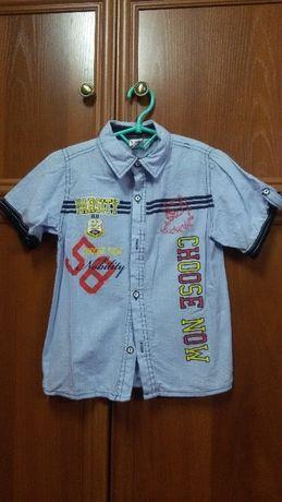 Рубашка, тенниска на мальчика 6-7 лет, Kids club, Турция - 130 грн