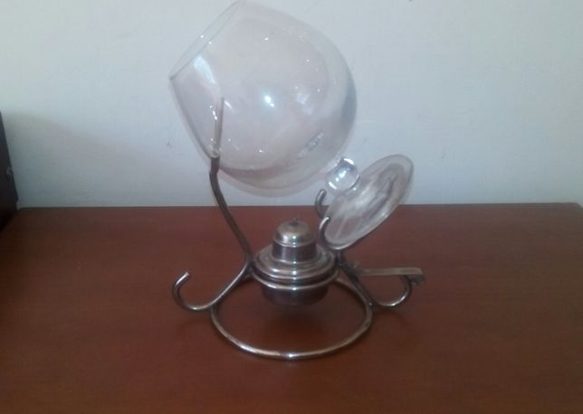 lamparina em inox com balão