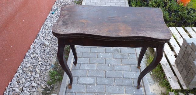 Stary stolik do brydża do renowacji