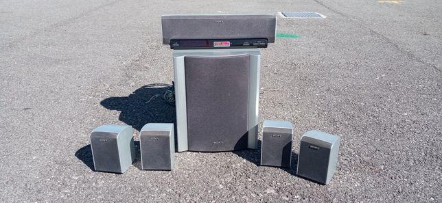 Conjunto Sony gravador/leitor de CD e som