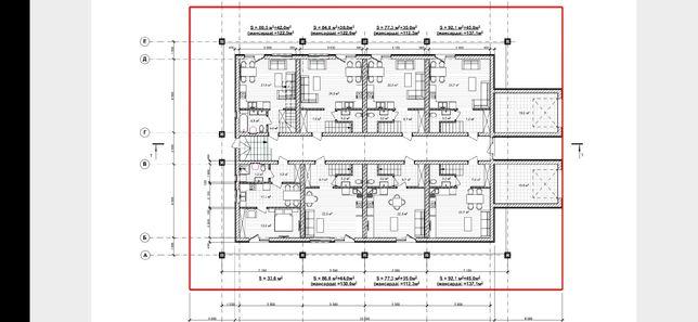 Новый дом под Киевом, 3 этажа, под ремонт+участок!