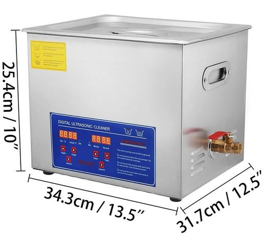 Máquina Ultrasons Profissional Industrial 13 litros