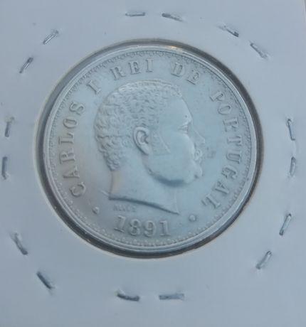 MOEDA 500 Reis 1891 D. Carlos