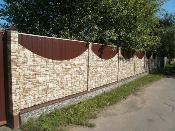 Забор из профнастила не дорого и надежно,установка,гарантия качества