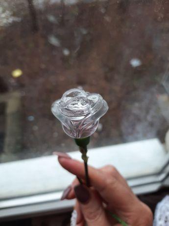 Винтажный флакон для духов роза СССР