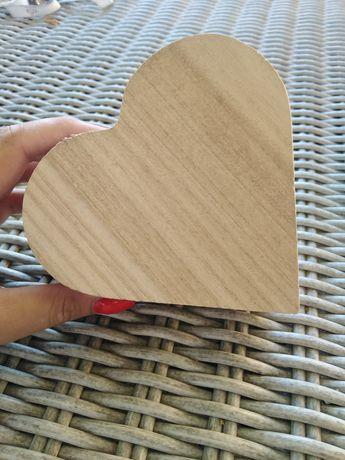 Pojemnik drewniany Boho ślub na obrączki