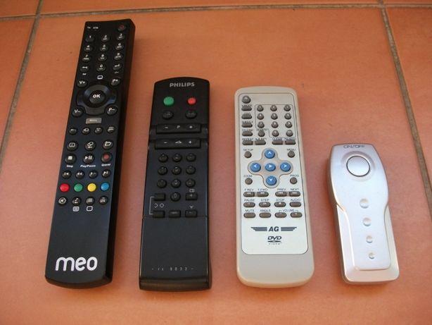 Comandos originais TV Philips, DVD AG, Meo box