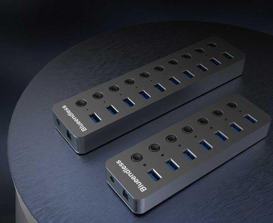 USB hub Blueendless USB 3.0 концентратор 7 10 портов USB hub