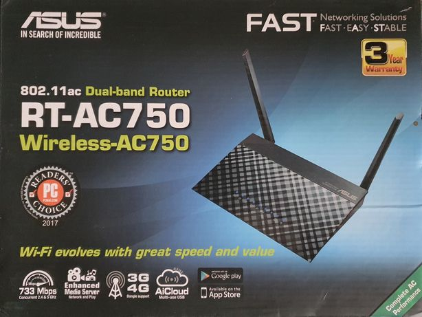 Router ASUS RT-AC750 dual-band 2.4Ghz & 5Ghz