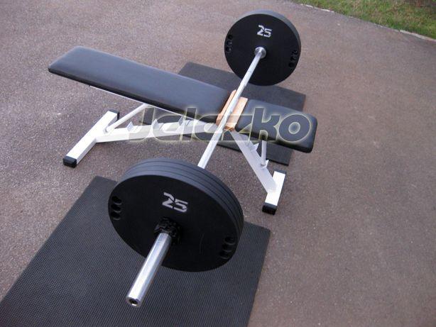 Гриф штанги олимпийский 2.2м+замки, хром, нагр до 200 кг, диски блины