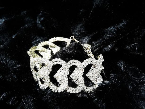 Piękna damska bransoletka / z cyrkoniami / elegancka / modna