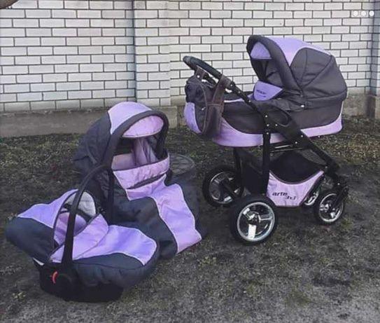 Детская коляска 3 в 1 Adbor Arte 3x3 , Б/У
