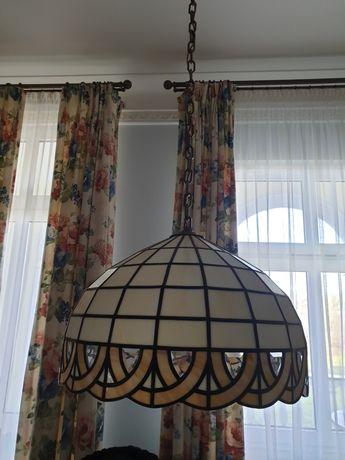 Lampa witrażowa duża