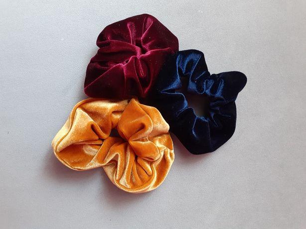Schransich gumki do włosów 3 szt.  handmade
