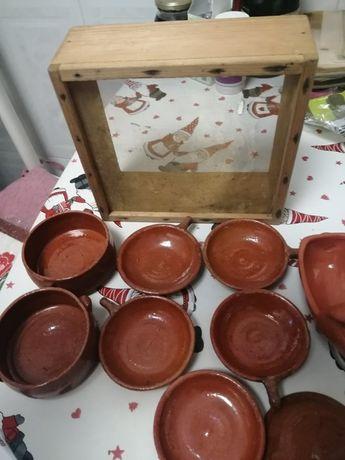 Taças em Barro, Peneira, Porco de Barro e Velas decorativas