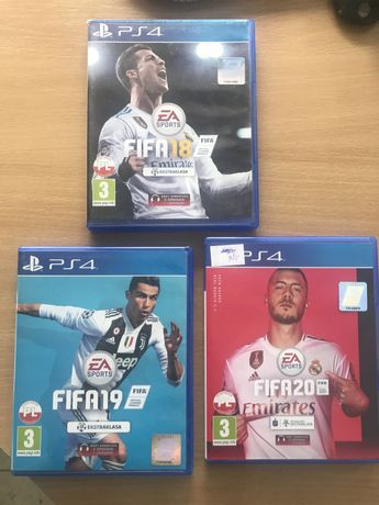 Gry ps4 FIFA 18,19,20