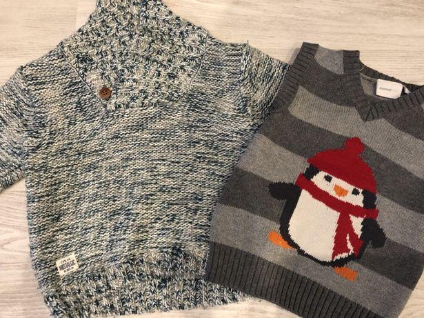 Sweterek plus kamizelka 80
