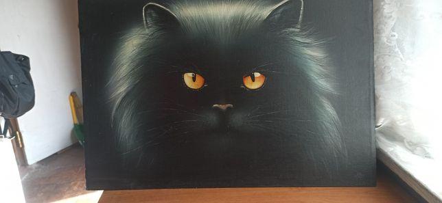 Картина чёрный кот