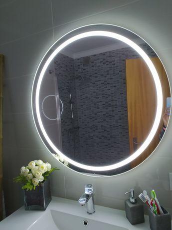Espelho redondo com luz led