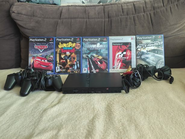 Sony PlayStation 2 Slim + 5 gier