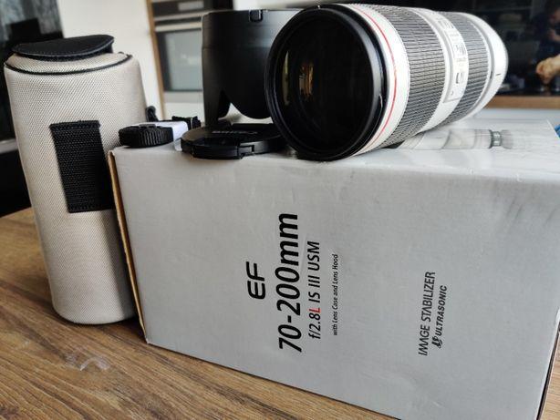 Canon EF 70-200 f/2.8L IS III USM stan IDEALNY