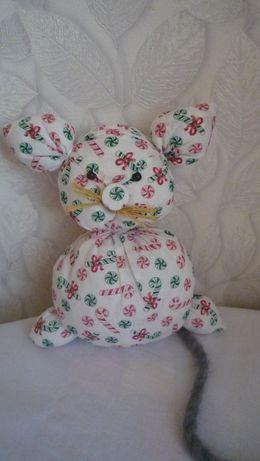 Новогодний подарок мышка, мягкая игрушка. ручная работа.
