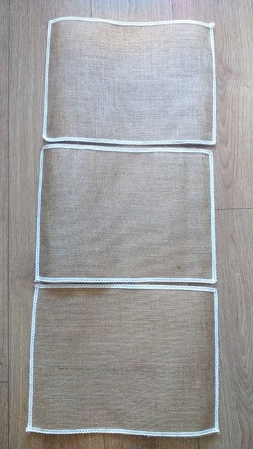 Podkładki na stół z juty
