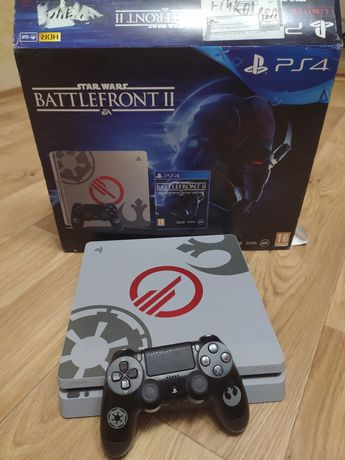 PlayStation 4 slim 1 TB Star Wars edition + игры