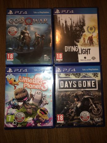 Gry ps4 , God of War, Dying Light, Days Gone,Little Big Planet