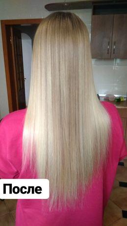 Кератиновое лечение и выпрямление волос. Ботокс волос. Кератин