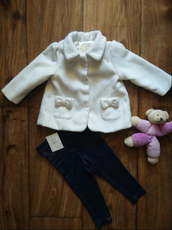 Нарядное пальтишко и лосинки для маленькой принцессы