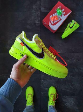 Buty Nike Air Force x Off-White Green 36-45 unisex trampki