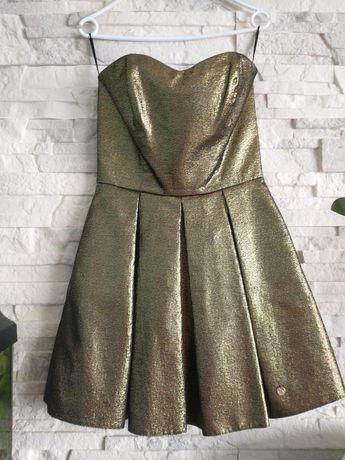 Sukienka złota Vinci Sylwester r 36/S