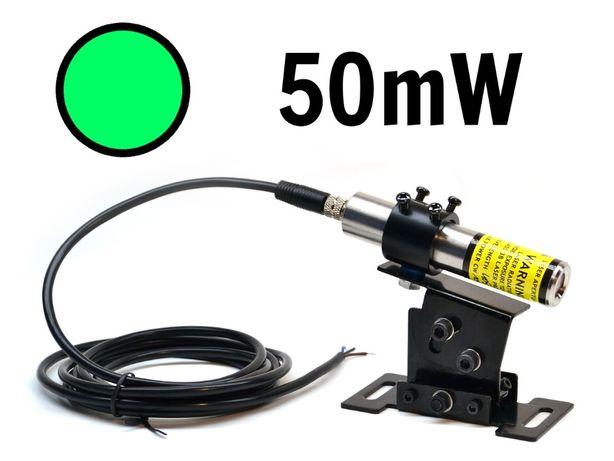 Laser liniowy zielony 50mW 520nm IP67 LAMBDAWAVE - Polski producent