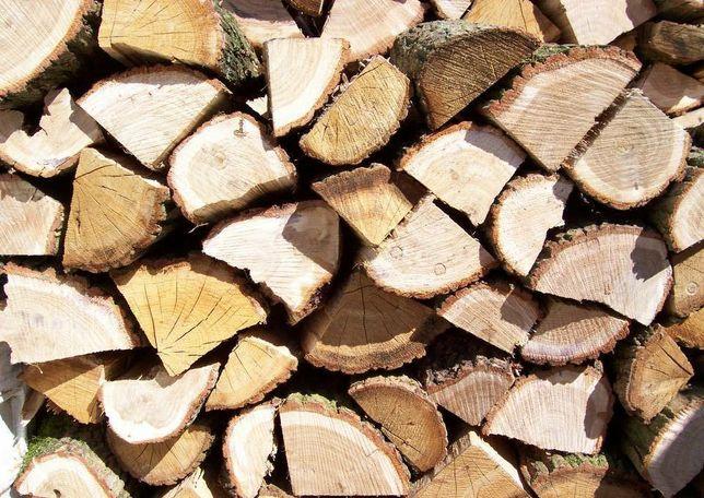 Drewno kominkowe i opałowe, sezonowane dąb, buk, brzoza i sosna