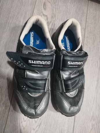 Sapatos Shimano M063 de encaixe para bicicleta (Nr. 39)