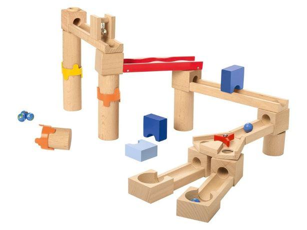 Playtive деревянный конструктор-лабиринт с шариками 35 дет монтессори