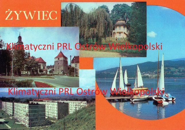 Pocztówka Żywiec wysłana do Kalisza lata 80-te znaczek PRL