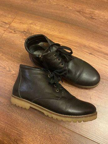 Ботинки полуботинки на осень-зиму кожаные