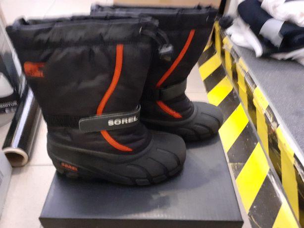 sorel buty kalosze śniegowce dziecięce r34 youth flurry