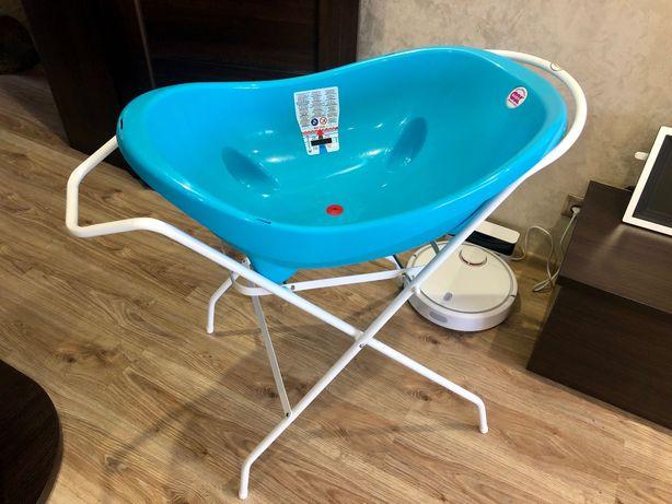 Ванночка детская Ok baby Италия со сливом+подставка