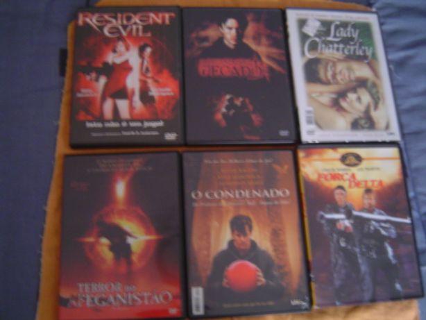 6 filmes em DVD Variados