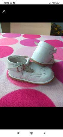 Skórzane buciki dla dziewczynki, rozm. 21