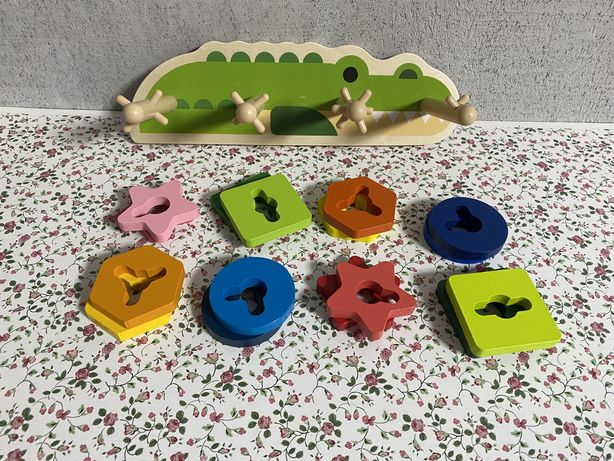 Логическая пирамидка - крокодил, (геометрика)