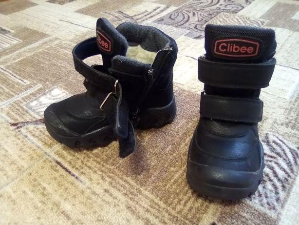 Продам зимние ботинки на мальчика 27р.