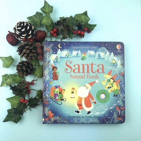 Santa Sound Book ,Usborne музыкальная рождественская игрушка-книга