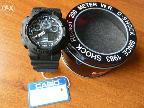 Часы CASIO G-SHOCK-GA-100+фирменный бокс G-SHOCK для часов по желанию.