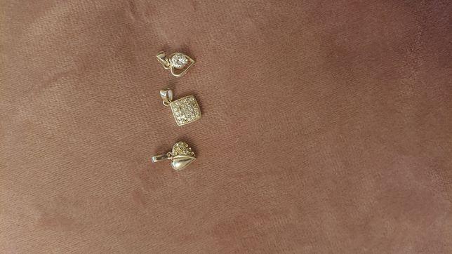 Zawieszki do łańcuszka srebrne z cyrkoniami próba 925 walentynki