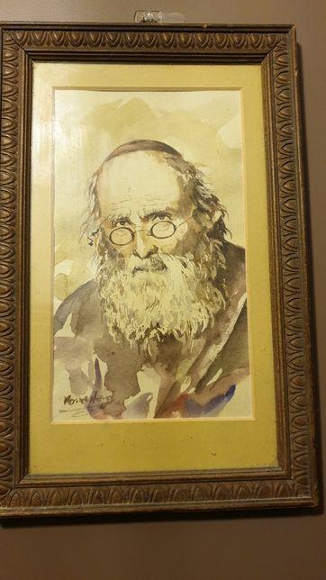 OBRAZ - RYCINA portret Żyda